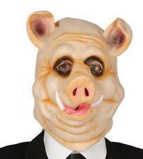 Maschera maiale in gomma travestimento animali