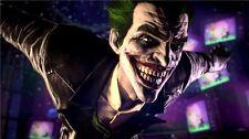 "Batman Arkham Origins City Asylum The Joker Harley Quinn Game Poster 24""x13"" 074"