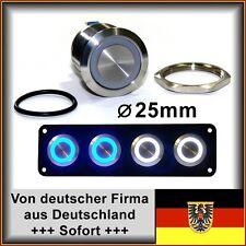 25mm Drucktaster LED weiß Klingelknopf Hupe Edelstahl Wasserdicht IP67