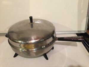 Farberware Aluminum Clad Stainless Steel Electric Skillet Dome Lid  12""