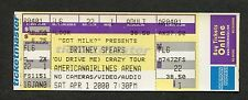 Britney Spears 2000 Unused Concert Ticket Miami Florida Oops! I Did It Again