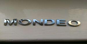 ford mondeo badge emblem lettering chrome