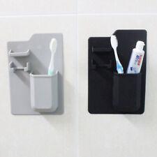Eco-friendly Silicone Toothbrush Holder Organizer for Bathroom Mirror Shower