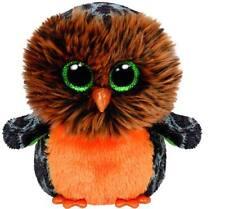 "Nwt Ty Beanie Boos 6"" Midnight Owl Halloween Plush Boo Glitter Eyes 2015 New"