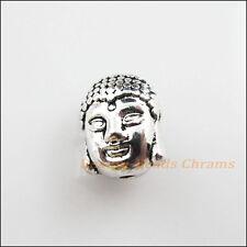 8Pcs Tibetan Silver Tone Buddhism Head Spacer Beads Charms 8.5x11mm