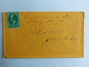 Kentucky: Grayson Springs 1871 3c Banknote Cover, Ms, DPO Grayson Co