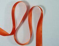 "5 metres x 25mm or 1"" Double Faced Satin Ribbon 750 Torrid Orange Brand New"