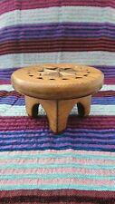 Style Marocain Sculpté à la main en bois Affichage Table Plant Stand x Petit Marron Clair