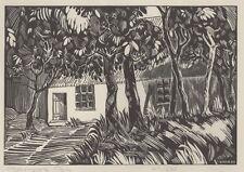 """""""MAISON MARTINIQUE"""" Gravure sur bois numérotée 415/450 de Barbara BIS"""