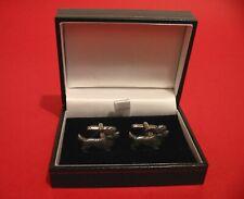 More details for dandie dinmont unique pewter cufflinks christmas wedding pet dog terrier gift