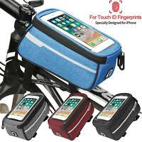 DURABLE WATERPROOF MTB BIKE TOP TUBE STORAGE BAG MOBILE PHONE HOLDER POUCH