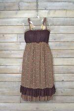 Vintage Negro Floreado & Vestido de Lunares (S)