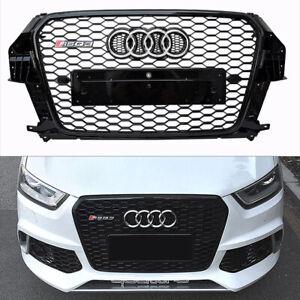Pour Audi Q3 8U & SQ3 2011-15 Calandre Grille Noir Brillant Nid Abeille RSQ3