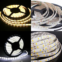 10M 5M LED 5630 3528 SMD Strip Light Kit Flexible Dimmable Waterproof + Adapter