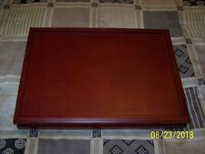Morgen Mint 50 Quarters Coin Collection Cherry Finish Wood Display Case