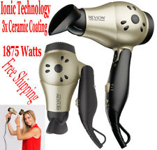 Revlon Ionic Hair Dryer Professional Travel Turbo Blow Compact 2 Speeds 1875W