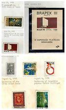 stamps BRAZIL A850-A856 1560-1567(8) MINT MNH SET