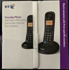 New BT Everyday Call Blocking Twin DECT Home Cordless Phone & Answer Machine