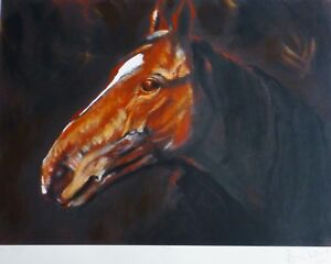 """RONNIE WOOD """" Moscow Flyer """" horse HAND SIGNED ROLLING STONES"""