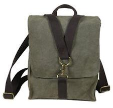 """Ducti """"Ambush"""" Suede Hybrid Laptop Messenger Bag & Backpack Satchel"""