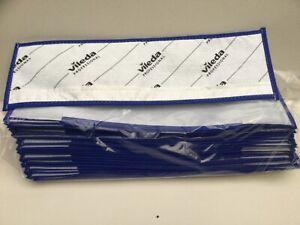 PACK OF 25 X VILEDA PROFESSIONAL MicroOne POCKET 40cm MOP PADS IN BLUE