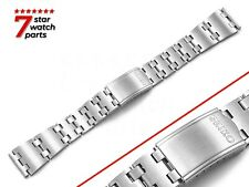 For SEIKO Watch SILVER Stainless Steel Watch Strap Band Bracelet Clasp 20/19mm