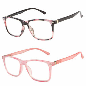 Women Fashion Vintage Reading Glasses Clear Lens Thin Frame Nerd Glasses Retro