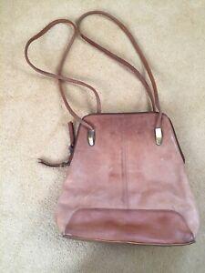Vintage Jobis Backpack - Tan Brown Leather