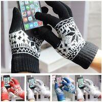 Warm Winter Gloves Knitted  Gloves Men Women Gloves Screen Glove Warm