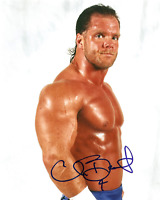 Chris Benoit Autograph Pre Print Wrestling Photo 8x6 Inch Hologram
