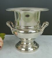 "Small Trophy Style Silver Plated Champagne Ice Bucket Wine Cooler 7-1/2"" High"