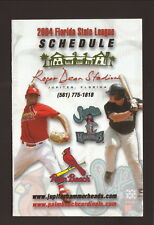 Jupiter Hammerheads & Palm Beach Cardinals--2004 Schedule--Annett Bus Lines
