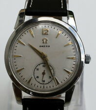 "VINTAGE RARE""OMEGA-SEAMASTER""ALL STEEL SWISS MECHANICAL MEN'S WATCH CAL.491# 640"
