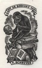 Ex Libris Thijs Mauve : Opus 126, F. Schrijver (test print)