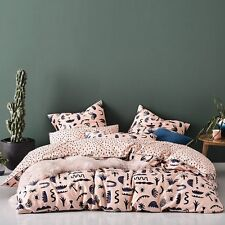 3pc HOME REPUBLIC MOJAVE BLUSH SUPER KING BED QUILT COVER + PILLOWCASES SET