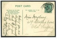 L126 Great Britain Cover 1903 GB Manchester Advance Xmas MR Oval/Old Trafford