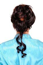partie de cheveux avec peigne volumineux bouclé baroque noir yzf-3072ht-1