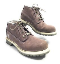 Timberland Women's Purple Waterproof Suede Leather Ankle Hiking Boots Size 8M