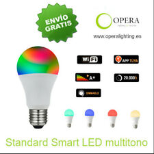 BOMBILLA WIFI LED E27 COMPATIBLE ALEXA Y GOOGLE multitono RGB
