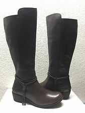 UGG CIERRA LODGE LEATHER KNEE HIGH HEEL BOOTS US 8.5 / EU 39.5 / UK 7 - NIB
