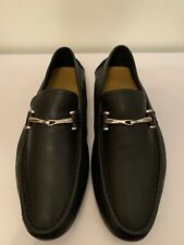 Gucci Black Leather Driving Shoes Slip-on Loafers Moccasins Size 10 Authentic