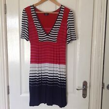 LADIES 'MISS SIXTY' MULTI STRIPE TUNIC DRESS. SIZE XS/SIZE 8.GOOD COND.KNEE LENG