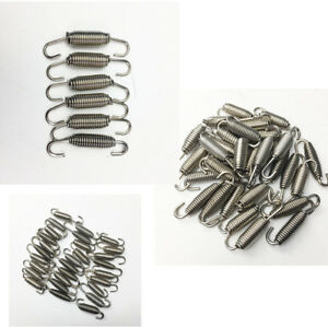 6Pcs Stainless Steel Spring Hook Used On Racing Motorcycle Exhaust Pipe Muffler