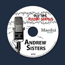 Andrew Sisters Old Time Radio Shows Variety 20 OTR MP3 Audio Files on 1 Data DVD