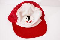 Vtg Atlanta Falcons NFL Sports Mesh Snapback Trucker Hat Red White