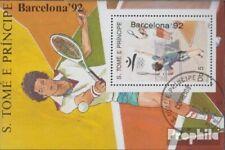 Sao Tome e Principe Block199 (compleet Kwestie) gestempeld 1989 Spelen Zomer ´92