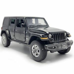 1:32 Jeep Wrangler Sahara Model Car Diecast Toy Vehicle Sound Light Cars Black