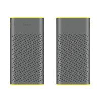 HOCO Zusatzakku Dual USB PowerBank 30000 mAh Batterie extern Akku Ladegerät GRAU