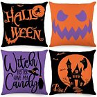 Witch Boo Halloween Pillow Covers 18x18 Inch Set of 4 Throw Pillowcase Farmhouse