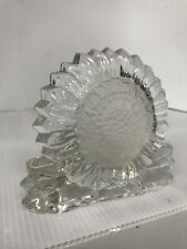 Sunflower Partylite Tea Light Votive Candle Holder Clear Etched Glass Sunshine